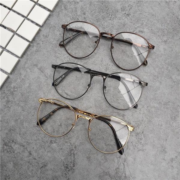 《7color camera》韓國百搭臉型金屬時尚簡約復古大框 眼鏡 流行 鏡框