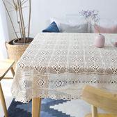 桌巾民國風格手工鉤針蓋巾餐桌布編織桌布鏤空桌布臺布鋼琴巾拍攝道具 嬡孕哺