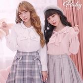 上衣 Ruby x AKB48TeamTP設計•荷葉領結長袖上衣-Ruby s 露比午茶