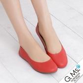 G.Ms. 旅行女孩II‧素面全真皮可攜式軟Q娃娃鞋(附專屬鞋袋) *紅色
