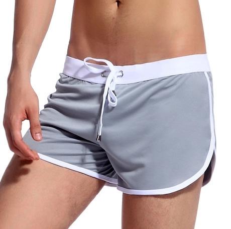 全場九五折 促銷特價網將綁帶速干冰絲低腰平角阿羅內褲男性時尚家居寬松運動
