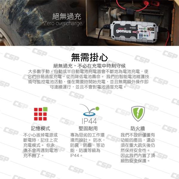 【NOCO Genius】G15000多功能充電器12V.24V/適合充WET.GEL.鉛酸.EFB.AGM.鋰鐵電池