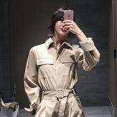連身工裝褲女小個子套裝寬鬆顯瘦氣質網紅收腰春秋裝2019新款女裝怦然心動