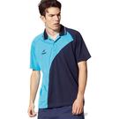 【Nittaku】男女吸濕排汗短POLO衫-天藍#3154(排汗衫)