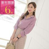 《AB8145-》抽繩設計兩穿式純色襯衫 OB嚴選