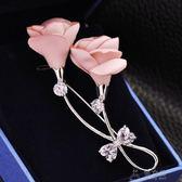 布藝玫瑰花朵韓國簡約毛衣大衣胸針別針胸花女衣服外套裝飾配飾品    俏女孩