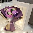 香皂花花束透明手提袋 情人節母親節生日禮...