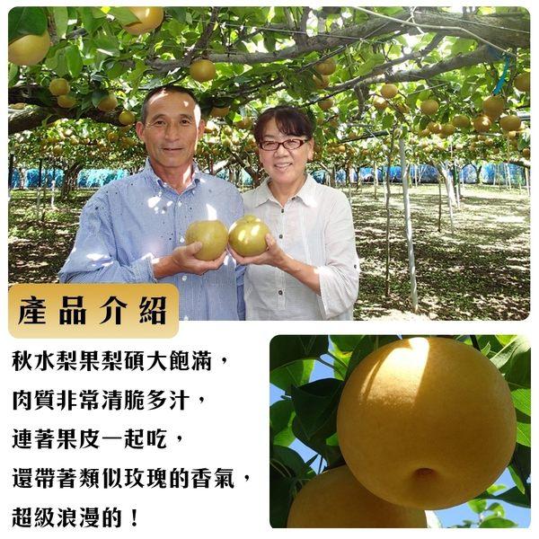【果之蔬-全省免運】東勢甜蜜秋水梨X1箱(5斤±10%/箱 約6-7顆)大顆