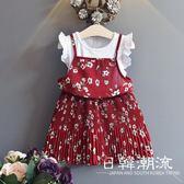 洋裝/裙子 2019夏季童裝假兩件修身打底短童裙蕾絲韓版女童公主連身裙1065