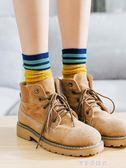 襪子女中筒襪韓版學院風春秋冬個性薄純棉韓國百搭堆堆襪女長襪潮 漾美眉韓衣