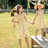 沙灘裙 6歲親子裝夏季雪紡洋裝母女2019新款洋氣長裙中大童女沙灘裙子8