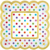 5.5吋方盤36入-彩虹點點