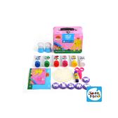 【西班牙 JoanMiro】6色手指畫小禮盒-粉紅創藝款 JM90973
