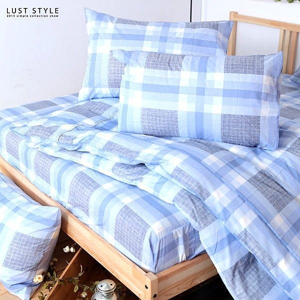 LUST寢具 【新生活eazy系列-日風水格】單人3.5X6.2-/床包/枕套組、台灣製