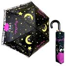 【日本正版】Onegai Chakra 黑貓 輕量型 晴雨傘 附傘套 摺疊傘 雨傘 折傘 - 042229
