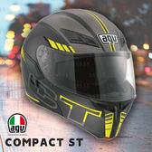 [中壢安信] 義大利 AGV Compact ST 彩繪 SEATTLE 消黑銀黃 可樂 汽水 安全帽 插扣 內墨片