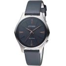 CITIZEN星辰幾何線條時尚Eco-Drive腕錶  EM0599-17E