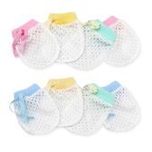 嬰兒手套 冰絲涼感 抽繩 輕薄透氣 護手套 防抓手套 新生兒手套 RA1258 寶寶小手套