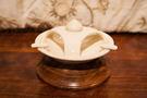 印度 陶瓷木質底座 菸灰缸