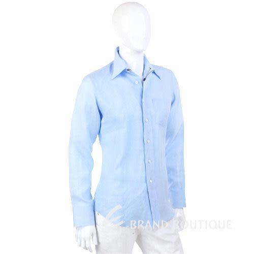 PRADA 水藍色長袖襯衫 1230244-27