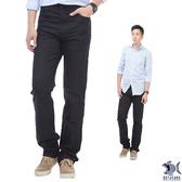 【特價款 即將斷貨】Timeless光澤黑 冰涼節能 直紋休閒男褲(歐系修身小直筒) 380(5615)