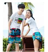 圖騰 印花 抽繩 海灘褲 沙灘褲 情侶褲【MNA18-9】 ENTER  04/26
