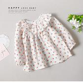 甜美小草莓學院領上衣 秋冬童裝 女童上衣 女童長袖 女童長袖上衣 女童秋冬上衣