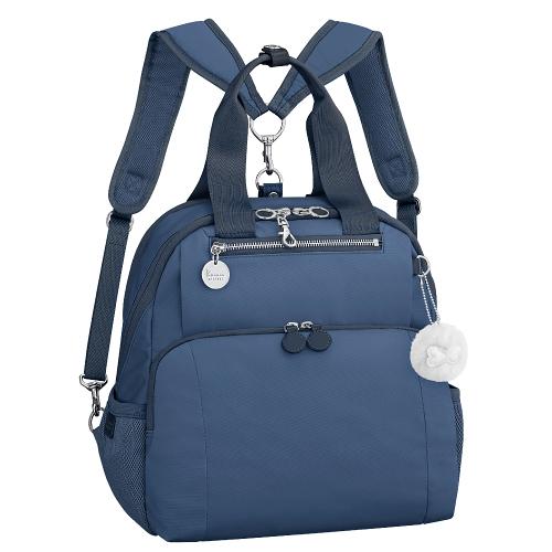 Kanana卡娜娜 多功能尼龍手提後背兩用包(深藍色)241012-03