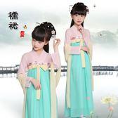 新款兒童古裝漢服公主齊胸演出服雪紡襦裙     SQ8055『寶貝兒童裝』
