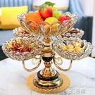 歐式水晶玻璃多層網紅水果盤北歐家用客廳茶幾創意輕奢零食糖果盤 3C優購