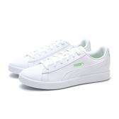 PUMA 休閒鞋 UP WNS 白 綠尾標 皮革 板鞋 女 (布魯克林) 37303405