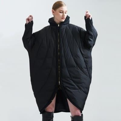 羽絨夾克-立領冬季保暖中長版寬鬆女外套73pv22【巴黎精品】