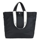 【南紡購物中心】agnes b.雙用提帶尼龍購物包-黑