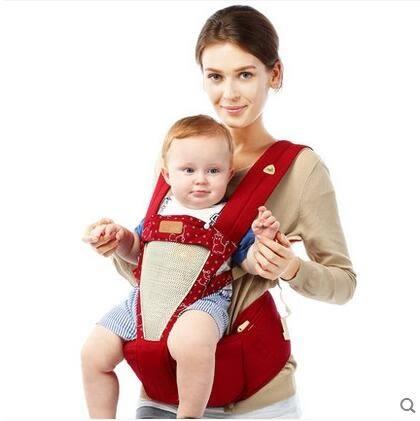 食尚玩家 嬰兒背帶腰凳寶寶前抱式腰登夏季透氣純棉雙肩多功能四季通用坐凳