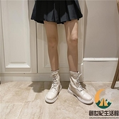 馬丁靴女短筒顯瘦厚底增高百搭短靴秋【創世紀生活館】