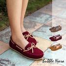 義式經典手工真皮豆豆鞋。Bubble Nara波波娜拉~質感生活從好鞋開始,海軍條紋內裡,男朋友鞋