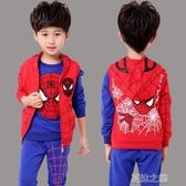 萬聖節男童服飾-服裝男童蜘蛛俠衣服套裝兒童男孩寶寶秋款 夏沫之戀