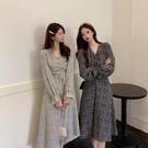 洋裝 復古 顯瘦遮肚減齡超仙女森系閨蜜連衣裙R028-B依品國際