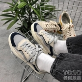 休閒鞋  風拼色潮流低幫鞋夏季韓版休閒鞋情侶運動鞋子男『優尚良品』