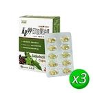 【肯寶】KB99印加果油膠囊(30粒/盒) x3盒_素魚油 維他命E