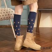 3雙裝 高腰襪子女秋季潮中筒襪韓版小腿襪百搭復古長筒襪【毒家貨源】