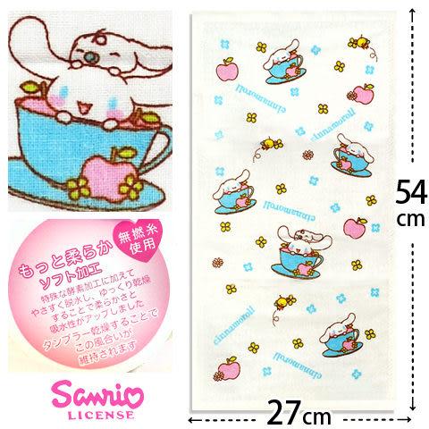 【esoxshop】Sanrio 大耳狗紗蘿童巾-藍色咖啡杯│正版授權《紗布童巾/喜拿狗/Cinnamoroll/兒童毛巾》