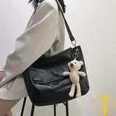 大容量包包女韓版簡約百搭單肩斜挎包【雲木雜貨】