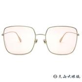 Dior 太陽眼鏡 Stellaire1 (金-粉鏡片) 人氣熱銷款 方框 墨鏡 久必大眼鏡