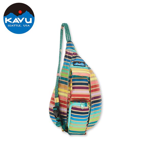 【西雅圖 KAVU】Mini Rope Sling 休閒肩背包 夏季條紋 #9191