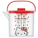 【震撼精品百貨】凱蒂貓_Hello Kitty~日本SANRIO三麗鷗 KITTY 手提透明冷水壺/飲料壺(1.2L)-紅蓋#49886
