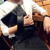 手拿包/軟皮信封包 單肩斜跨大包「歐洲站」
