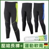 運動機能壓縮 長褲 壓力褲 男款 II代 超值組合 + 運動舒緩 軟膏 德國樂活 ROWO Sport-Gel 減少肌肉痠痛