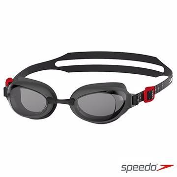 【線上體育】SPEEDO成人進階度數泳鏡Aquapure灰/墨灰, 1.5