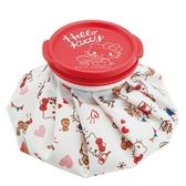 〔小禮堂〕Hello Kitty 尼龍圓筒狀冰敷袋《白紅.拿鬆餅》冰墊.冰袋.冰枕 4973307-46579